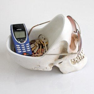 skull tidy desk bowl