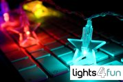 colorful faery light for keyboard and monitor