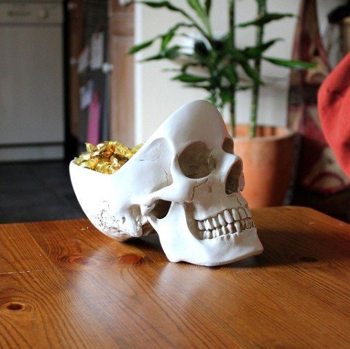 desk skull tidy bowl