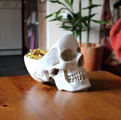 desk skull tidy bowl