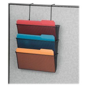 hanging file organizer for cubicle wall