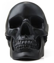 desk skull tidy bowl in black