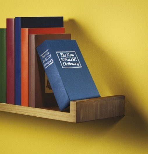 hidden book vault on bookshelf