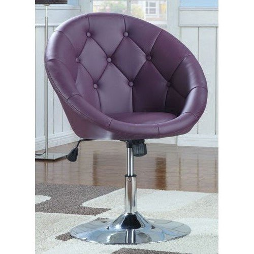 purple round-back swivel chair