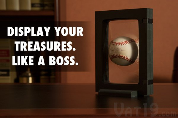 z access 3d display frame with baseball