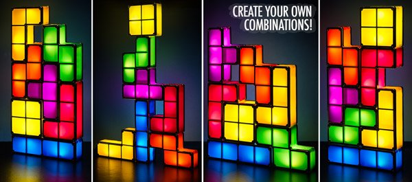 tetris lighted pieces