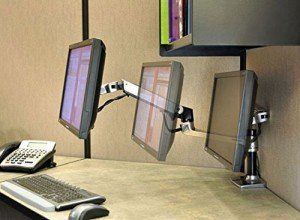 flexible arm monitor desk mount extended