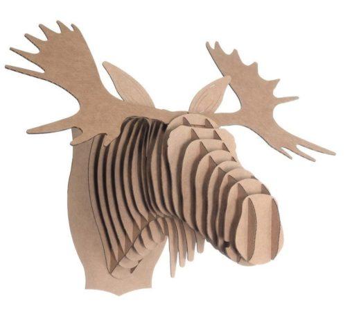 cardboard moose head
