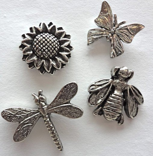 insect and flower decorative push pins