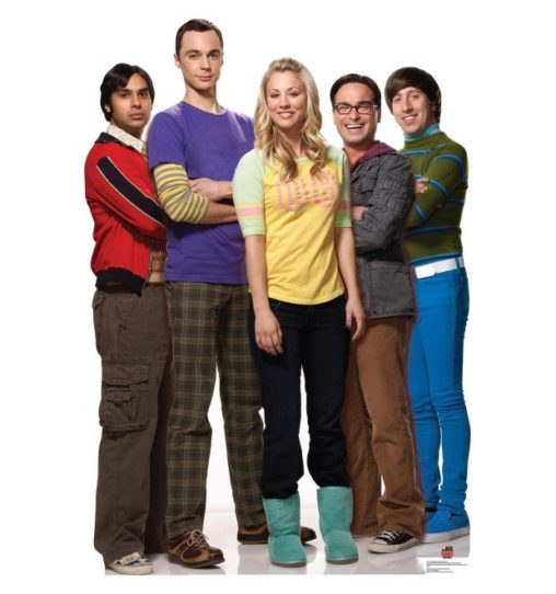 big bang theory gang cardboard cutout