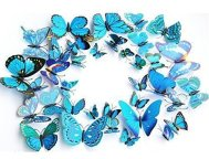 blue and purple butterfly wall decal stickers