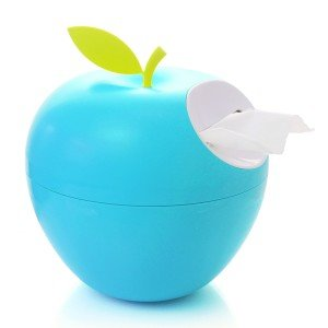 blue apple tissue box side view