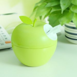 green apple tissue box in cubicle