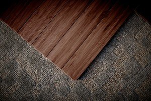 bamboo chair mat closeup