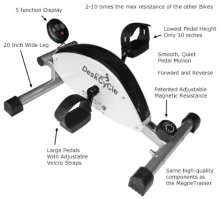 desk exercise bike features