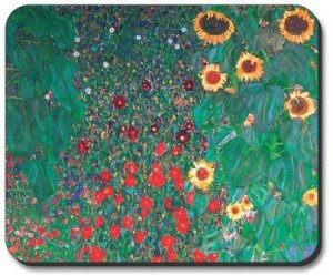 Gustav Klimt Sunflowers mouse pad