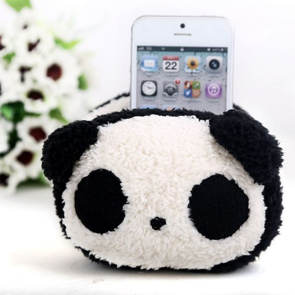 Plush Panda Cell Phone Holder Cube Decor Zone