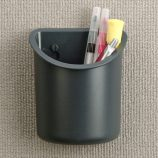 pencil cup accessory mounted on cubicle wall