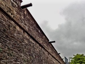 medieval wall with cannons