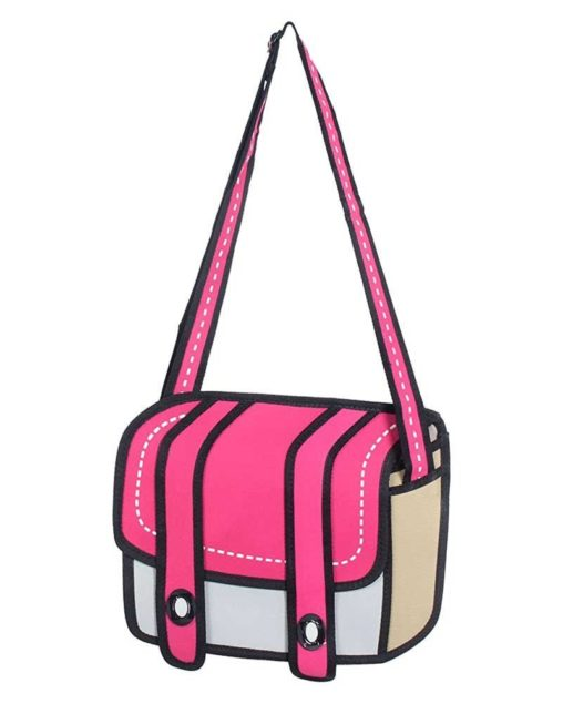pink 2D cartoon bag