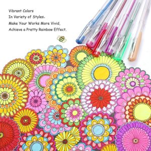 set of 120 gel pens for adult coloring books