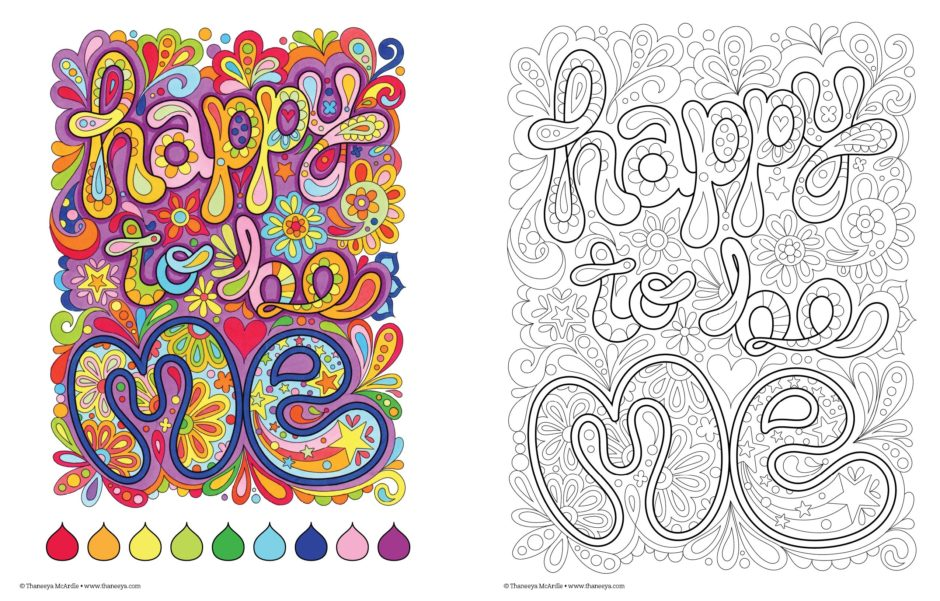 Happy to be Me Adult Coloring Book