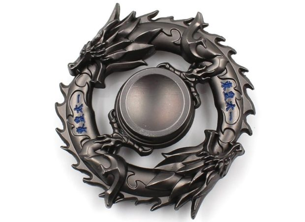 Chinese dragon metal spinner front view