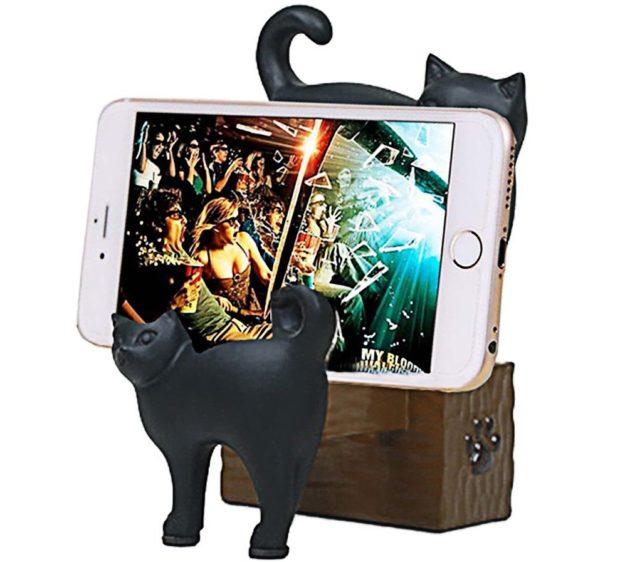 cute cat smartphone holder horizontal