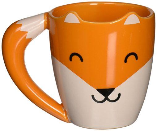 cute fox mug front