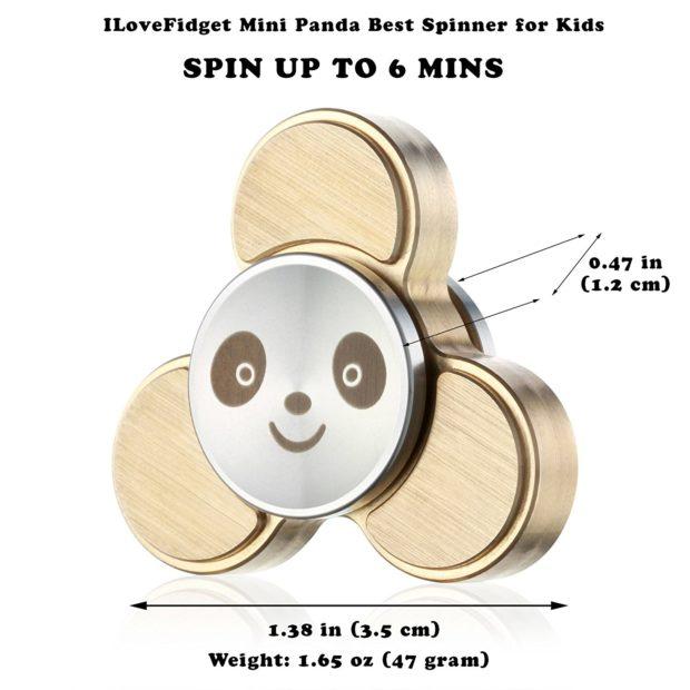 mini panda spinner dimensions